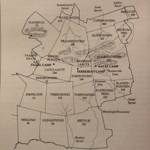 Early farms and original camps of Johannesburg
