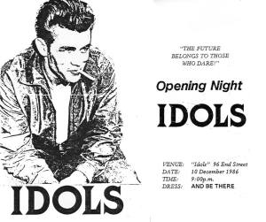 IDOLS opened officially December 1986