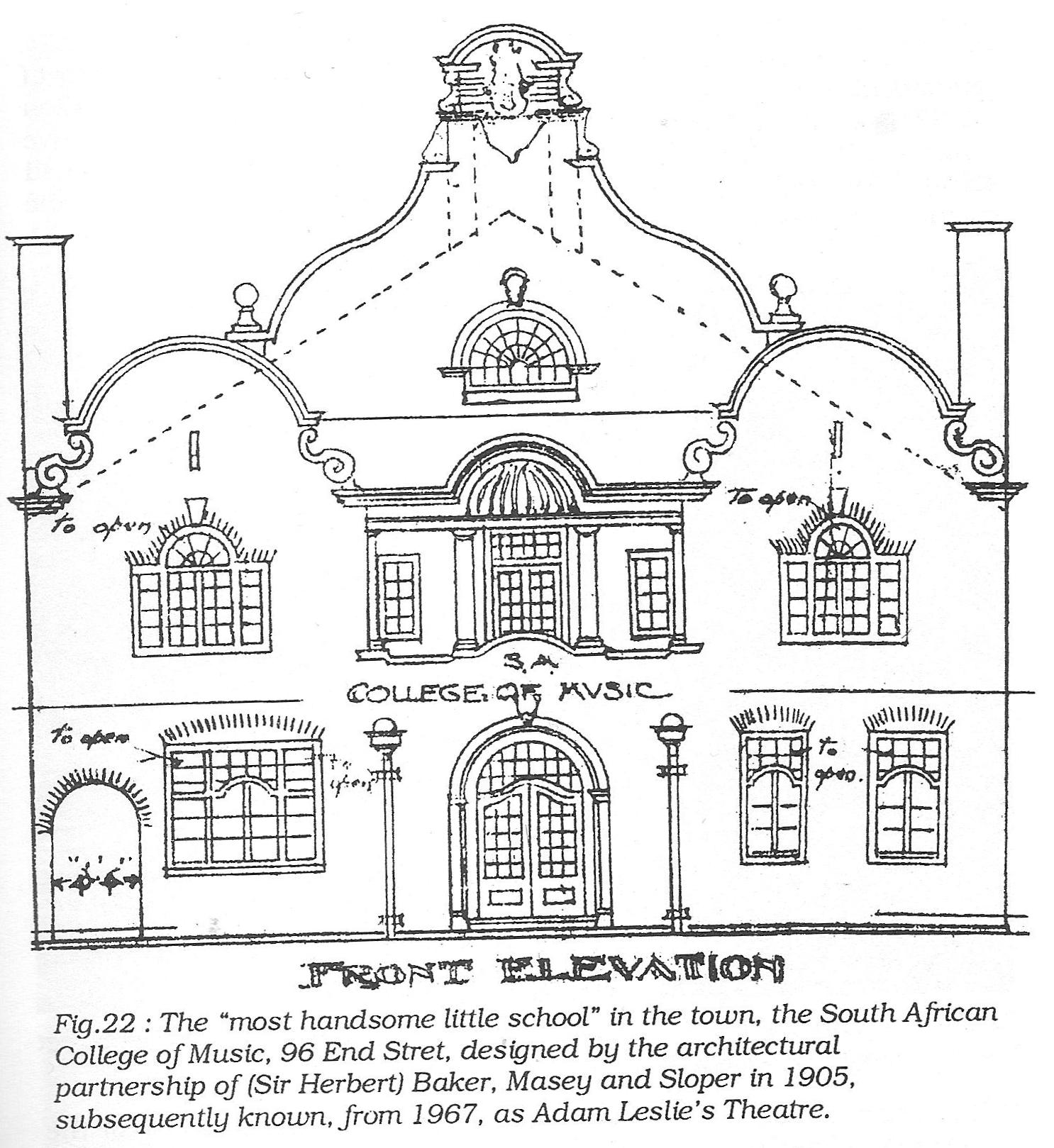 Front Elevation Definition Theatre : Doornfontein pt end street caledonian hall