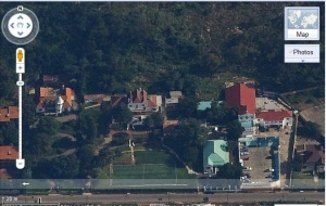 Google Earth shot of the houses on Gordon Terrace Doornfontein