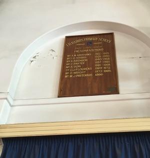 IH Harris school headmasters board