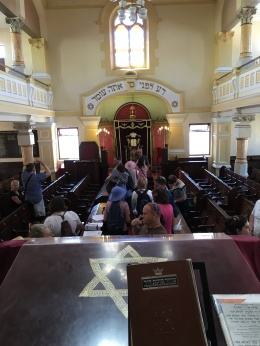Interior of the Lions Shul