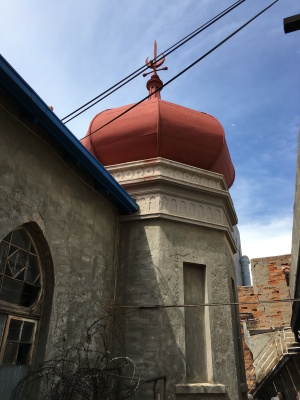 Outside widow and minaret