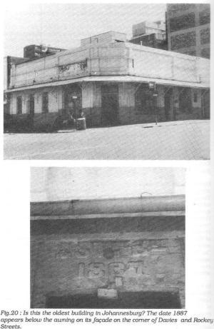 Facade showing 1887