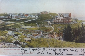 A view of Eastington from Ponte hill across Harrow Road early 1900s