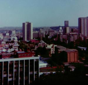 View from the top of Nugget Hill 1988 looking down to Saratoga Ave and End street