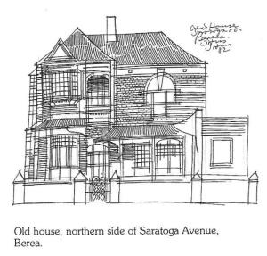 Sketch of the above house by Hannes Meiring from 1982