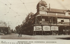 Marlborough House early 1900s. The building across the road still stands today 'Mitchells 1914'