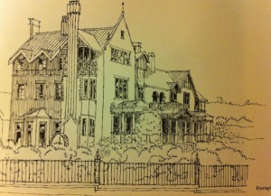 Sketch of Warrington Hall
