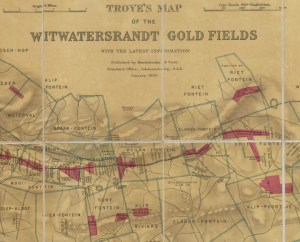 Farm and goldfield map