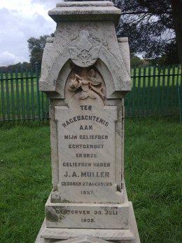 JA Muller gravestone