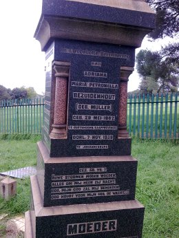 AMP Bezhuidenhout grave stone