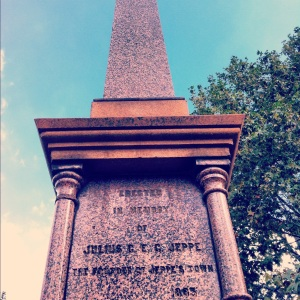 The first monument in Johannesburg 1894
