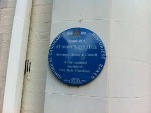 St. Mary's College blue plaque