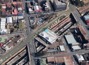 Position of first Jeppe Station