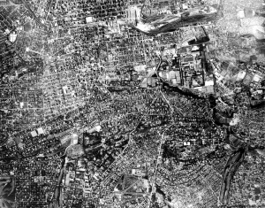 Aerial shot of Johannesburg circa late 1930s