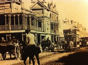Double decker horse tram mid 1890s