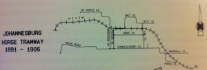 Johannesburg Horse tram map 1891-1906