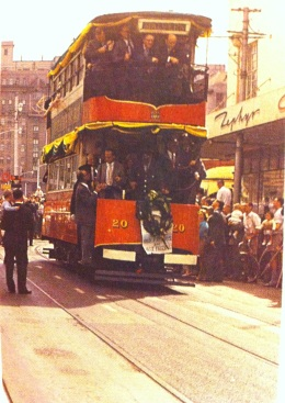 The very last electric tram ride Johannesburg 16 March 1961