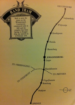 Rand Tram map