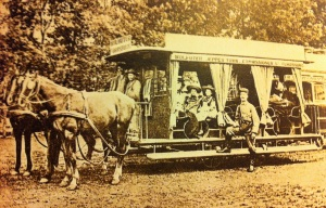The first horse tram in Johanesburg 1891