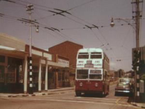 Trolley Bus in Melville corner 4th Ave & 7th Str