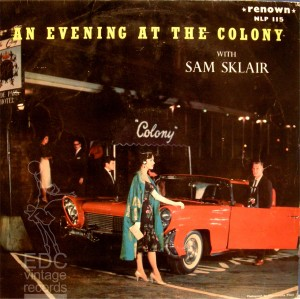 Sam Sklair's album cover showing the entrance to the Colony