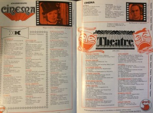 Cinemas & theatre shows in Johannesburg 1973