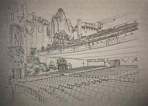 Colosseum interior sketch