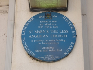 St. Mary-the-less blue plaque