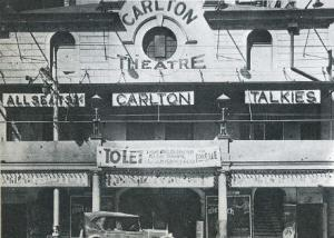 Carlton Theatre on Market Street opened in 1912 and demolished in 1933