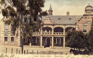 Front of Grand Station Hotel early 1900s