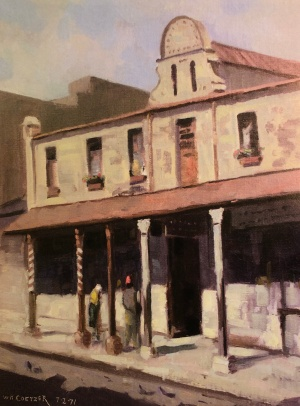 Gaiety theatre painting by Coetzer 1971