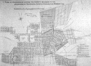 Johannesburg 1890 map