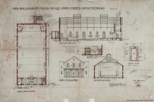 Original building plans for the Bijou originally known as the Bioscope Theatre