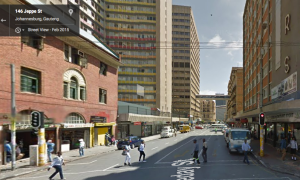 Cafe Bio would have stood next to the red brick building on the left