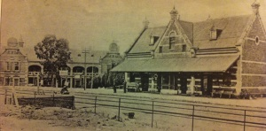 Original Jeppe Station with Grand Central Hotel in the background