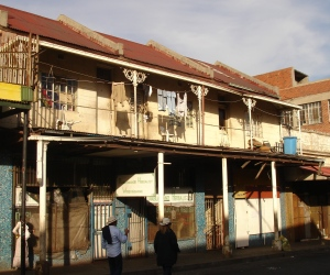 Flats in Jeppestown with some interesting ironwork