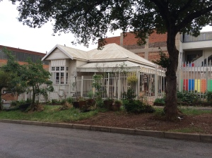 Really well-preserved tin & brick house in Lorentzville 2014