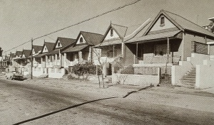Early picture of the semi-detached houses on Carnavon Road