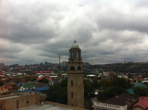 View across Troyeville looking north toward Hillbrow and Berea 2014