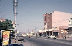 Gem Theatre and view down Commissioner Street late 1960s