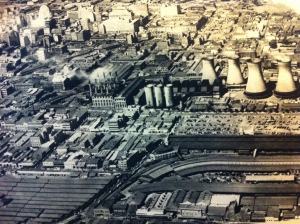 Aerial view of Newtown form 1930s. The sheds in the bottom left are the ones seen from the opposite side in the film
