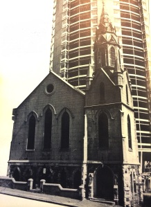 Clifton Methodist church in Decemeber 1972 just before being demolished