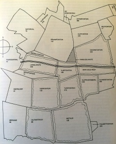 Map of the farms before the discovery of gold in Johannesburg