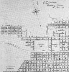 Map of Braamfontein from 1890