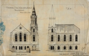 Original drawings of the church