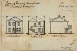 Plans for the parsonage built next ddor