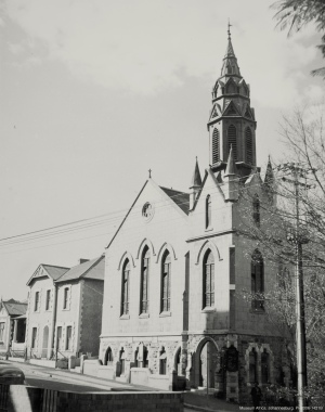 Picture of the church and parsonage