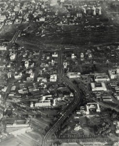 Aerial view of central Braamfontein